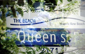 Away from the hustle and bustle of the downtown core, Queen street, in the Beach