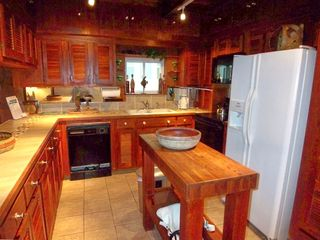Custom Kitchen with Teak cabinets