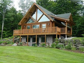 True vermont log cabin mountain views clo vrbo for Vermont mountain cabins