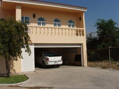 large 2-car garage with auto garage door opener