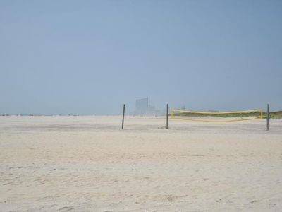 Volleyball anyone! This beach allows volleyball & kite flying.