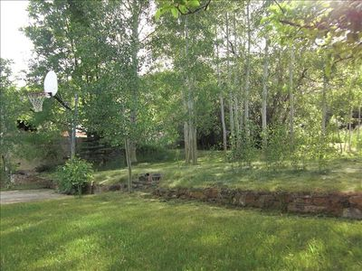 Basketball Court, Aspen Trees, Picnic Areas, Firepit for smores and more