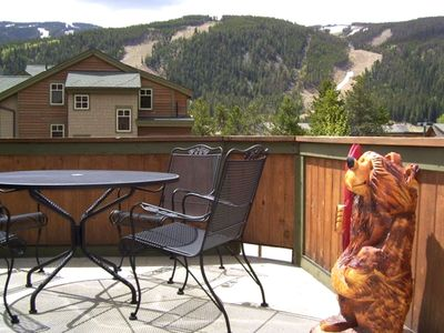 Keystone Mountain from Deck - with bar-b-que