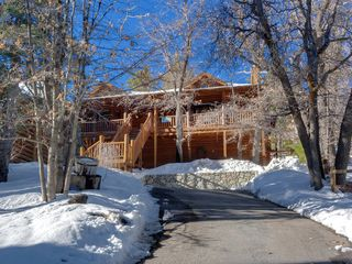 Bear Mountain cabin photo - Modern True Log Cabin. Upper Moonridge above it all.