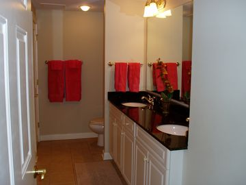 Master Bathroom with double sink vanity.