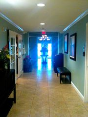 Daytona Beach Shores condo photo - Hallway entry in downstairs lobby