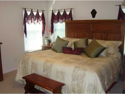 Master Bedroom with Private Master bath, Walk in closet, & TV