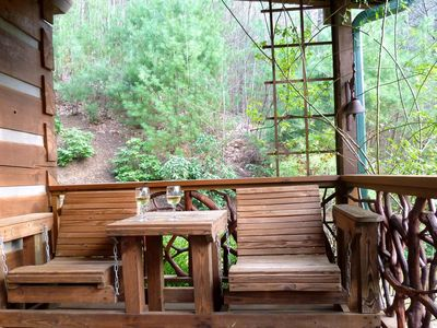 "Come ""sit a spell"" on the Porch at the Cabin"