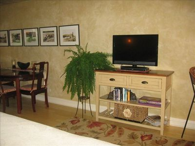 Flat Screen T.V. with DVD's and player