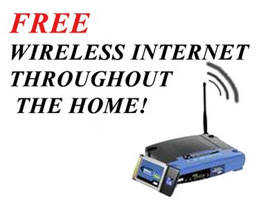 Free Wireless Internet throughout the home
