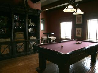 Park City house photo - Pool table room with bar area and plasma TV