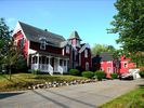 Red Rooster Exterior Summer - Ellsworth house vacation rental photo