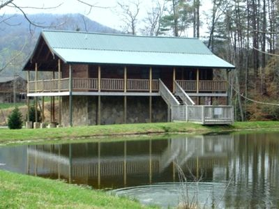 Pigeon Forge cabin rental - Fishing Hole - Fish right off your Deck in the Private stocked Pond