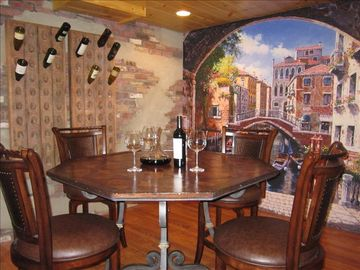 Black Mountain cabin rental - Dine in Wine Cellar located in basement