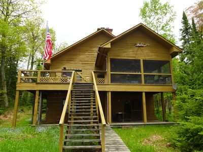 Madeline Island Classic Knotty Pine Cabin on Lake Superior
