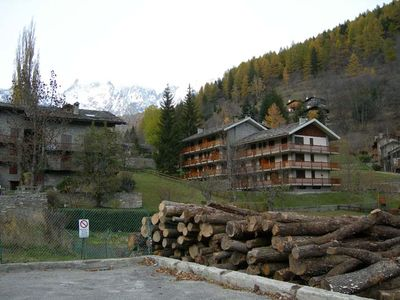 Apartment with panoramic views in the historic village near Courmayeur