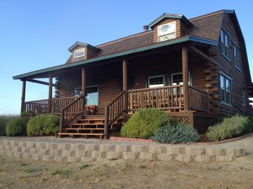 Paso Robles house rental - The east porch. Great sunrises, beautiful sunsets. Just add wine.