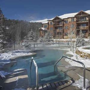 one of several pools and hot tubs at Grand Timber