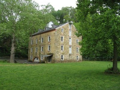 The 4 1/2 story grist mill on-site.