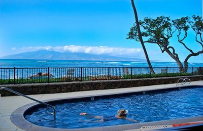 Pool overlooking Island of Molokai