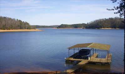 Double slip dock with pristine wide open views of Lake Lanier