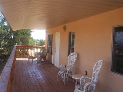 Back deck over looking the beautiful Kanab landscape.