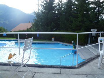 Outdoor Swimming Pool in Wengen with the best view