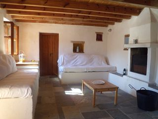 Gythion villa photo - Ground floor, single beds/couches, fireplace