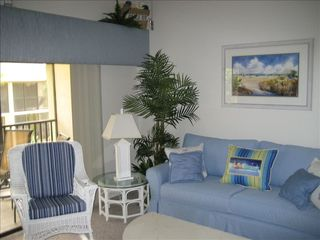 St. Augustine Beach condo photo - Coastal Decor: Living room