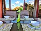 Terrace table and reflected view - Elviria area apartment vacation rental photo