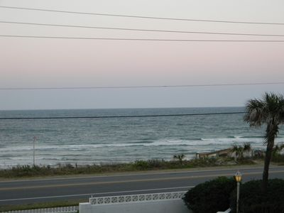 Flagler Beach condo rental - Dusk from our balcony