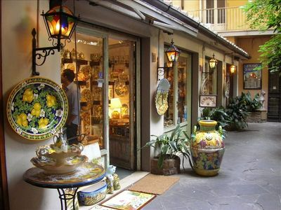 most famous ceramic shop in the courtyard