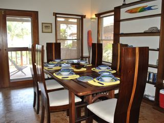 Ambergris Caye villa photo - Dining area overlooking pool and ocean