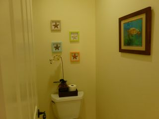 Waikoloa Beach Resort condo photo - Master bathroom toilet area decor