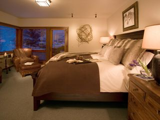 Teton Village lodge photo - Second bedroom suite with majestic views