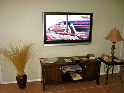 Flat screen TV & DVD in living room and both bedrooms w/ 4 channels of HBO