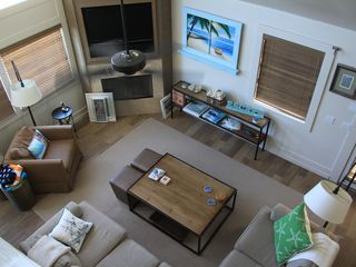 New Smyrna Beach house photo - View of the Family Room from top of the stairs. Great place to entertain!