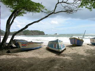 Nosara house photo - fisherman boats at nearby Playa Pelada