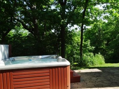Outdoor Hot tub is available year round.