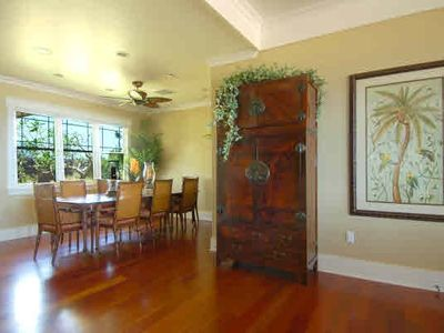 Poipu house rental - Honu La'e Dining Room