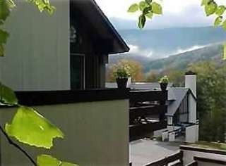 Deck With Views To Loon Mountain - Lincoln condo vacation rental photo