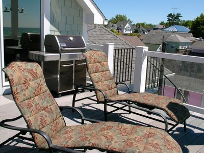 South Haven house rental - Also on the third floor balcony you can layout as well as grill out