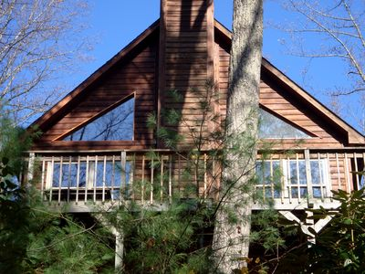Warm and Wonderful. Privately secluded cabin in the woods. Pet friendly.