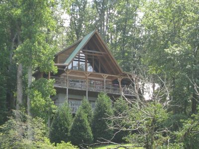 Wears Valley cabin rental - Nature's Dream, nestled on a landscaped wooded hillside adjacent to the Park