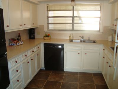 Fully equipped kitchen with updated appliances