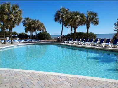 We have one of the largest outdoor pools on the beach!