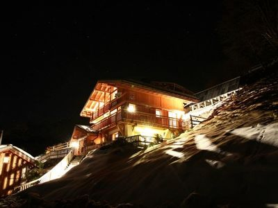 Isra Eco Chalet by night.