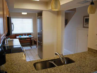 """Surf"" designer kitchen, stainless steel appliances, granite countertops!"