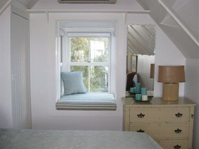 Provincetown cottage rental - Bedroom Window Seat