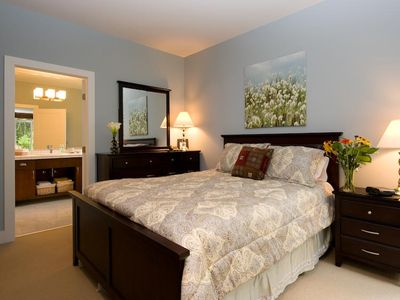 Carpeted Master Bedroom- Ensuite has Heated Floors